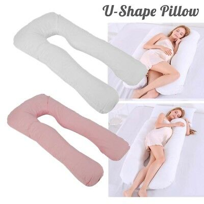 12Ft U-Shape Pillow Comfort Body Support Maternity Pregnancy Support Pillow&Case
