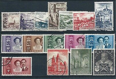 Luxembourg 1948-53 Selection of Used CV £29