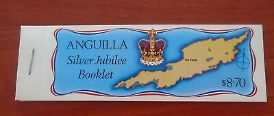 Anquila Silver Jubilee Booklet Complete Mnh Stamps