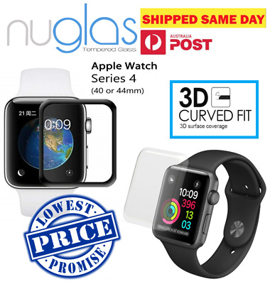 Genuine Nuglas 3D Full Cover Curved Tempered Glass Screen Protector Apple Watch