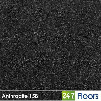 Anthracite 158 Dublin Heathers Flecked Feltback Carpet Twist Pile 4m & 5m Wide