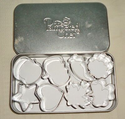 The Pampered Chef Mini Cookie Petit Fours Stainless Steel Cutters Lot Of 8