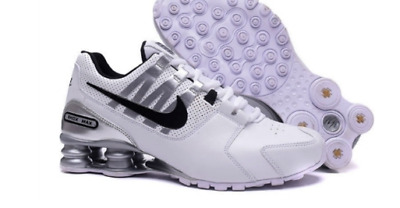 designer fashion 8130a 7111b coupon code nike shox avenue nz leather trainers size 11 uk 46 euro white  black 89a27