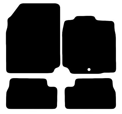 4 PIECE SET TAILORED CAR FLOOR MATS IN BLACK /& CLIPS NISSAN QASHQAI 07-2010
