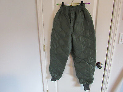 US Military CWU-9/P Quilted Flyers Liner Trousers Pants SMALL