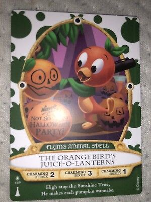 Orange Bird Sorcerers of the Magic Kingdom Card Mickey's Halloween Party 2018