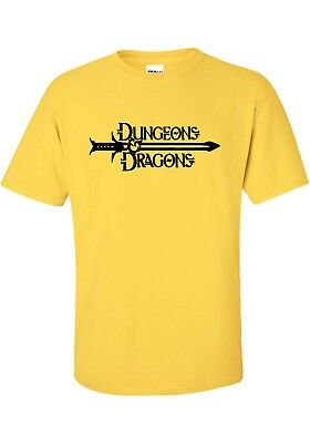 """ DUNGEONS AND DRAGONS "" T SHIRT   Classis ROLE PLAYING BOARD GAME PRG D&D TEE"
