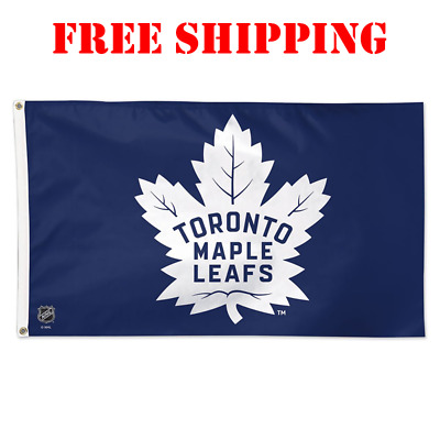 Deluxe Toronto Maple Leafs Logo Flag Banner 3x5 ft 2018 NHL Champions NEW