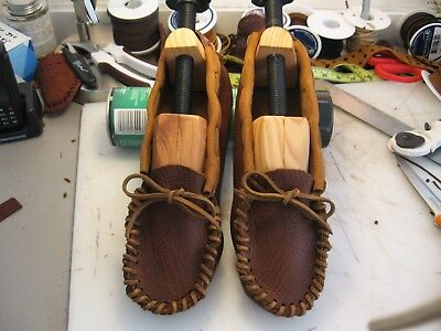 ALL Bison Hide Scout Moccasins Native American