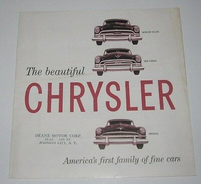 1954 Sales Brochure - Chrysler - Windsor New Yorker Imperial