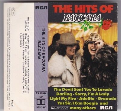 The Hits Of Baccara - Mc Rca © 1978 Germany Die Originale! Tape Cassette