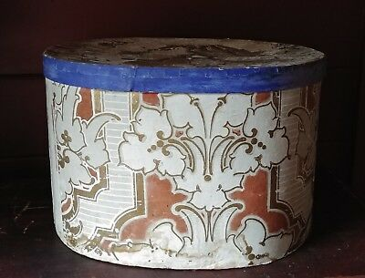 Large Mid 19th Century Wallpaper Box With Signature