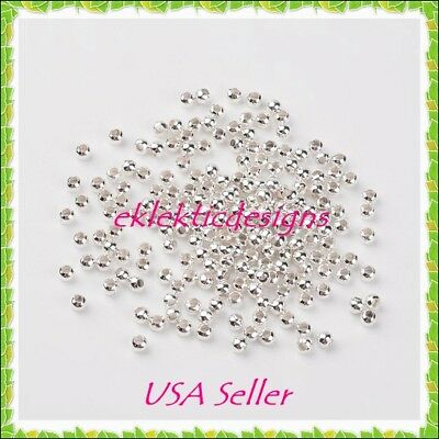 3mm 400pcs Silver Plated Metal Spacer Beads Jewelry Findings Earrings Necklace