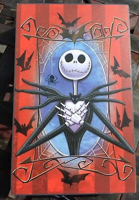 """New Jack Skellington  Wooden Wall Art Box Picture Nightmare Before Christmas 8"""""""