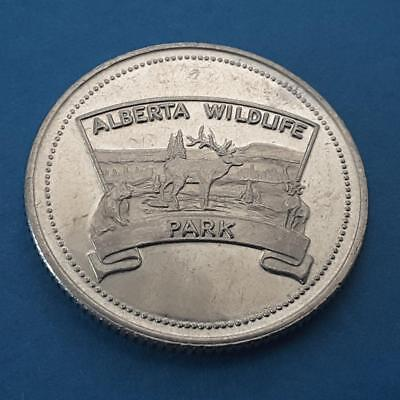 RED BARN, Bon Accord, Alberta ~ 1981 Drink Token with Wildlife Park Logo