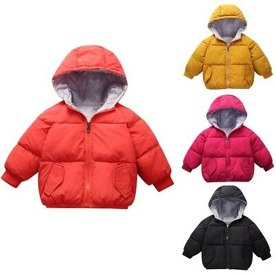 Kids Baby Girl Boys Winter Hooded Coat Cloak Jacket Thick Warm Outerwear Clothes