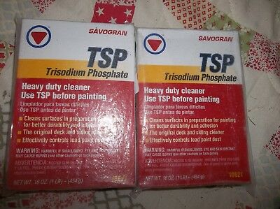 2 Boxes!!  Savogran 10621 1Lb Tsp Trisodium Phosphate Heavy Duty All Cleaner
