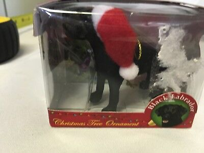 Collectible Christmas Ornament, Black Labordor