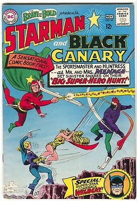 Brave And The Bold 62 DC 1965 VG Starman Black Canary 1st Silver Wildcat