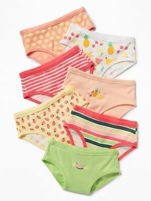 Nwt 2T-3T Cute Old Navy Toddler Girls Bikinis 7 Pack Underwear Fruit Stripes