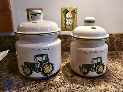 2 piece - John Deere - canister/cookie jar set by Gibson USA (discontinued)