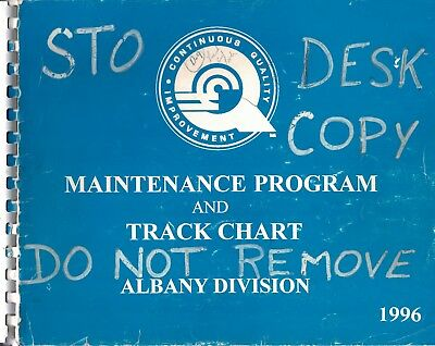 Conrail Maintenance Program and Track Chart Albany Division 1996