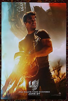 TRANSFORMERS: AGE OF EXTINCTION Original Movie Poster 27 x 40 DS Mark Wahlberg