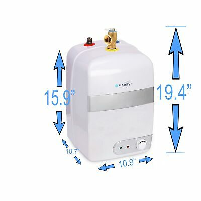 Electric Water Heater New Mini Tank Marey 2.5 Gal POU 110V 20 A