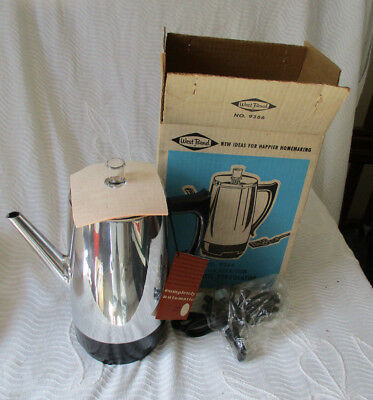 Vintage New NOS Westbend Automatic Peculator No 9366 6 ~ 9 cups w/tags & box