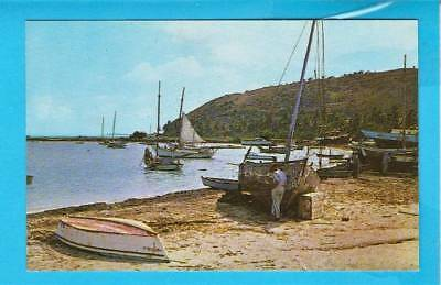 Postcard ~ Greetings from Puerto Rico waterfront ~ Vintage 2353