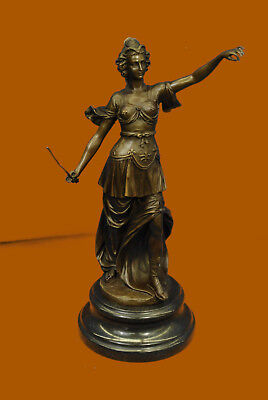 Bronze Blind Lady of Justice Scales Law Lawyer Attorney Office Statue Sculpture