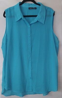 e3259ea7cb5 SIMPLY EMMA WOMEN S Plus Sleeveless Blouse Size 2X