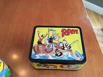 1960's Popeye Lunch Box - No Thermos * Vintage * -