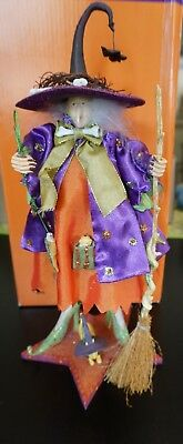 """Dept 56 Patience Brewsters Krinkles 2003 Raggedy Witch 56.35101 12"""" W/Box"""