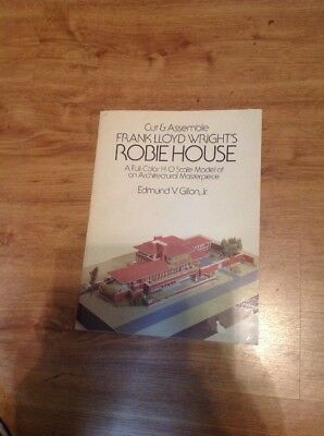 Frank Lloyd Wright Robie House H-O Scale Paper Model Dover Complete Uncut 1987