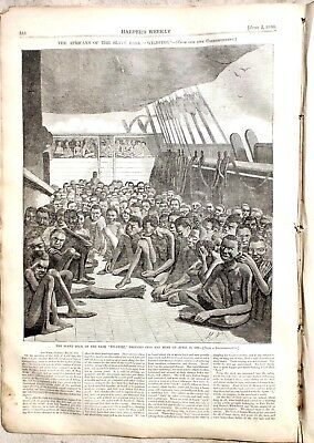 Harpers Weekly 6-2-1860 Slave Ship