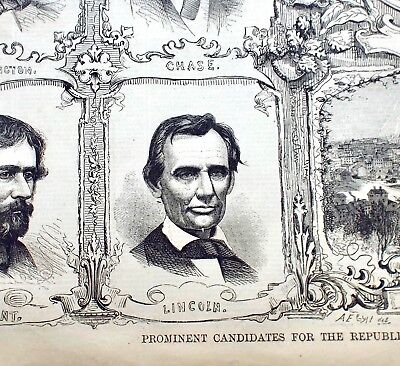 Harpers Weekly 5-12-1860 Abraham Lincoln and Republican Convention