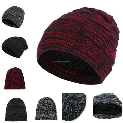 c60ab691 Women Men Warm Winter Geometric Pattern Knitted Cap Beanie Hat CLSV