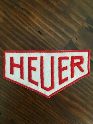 """HEUER Patch - Iron-On Patch 3.5""""x2"""" Vintage Racing Logo Sport Heuer"""