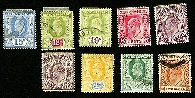 Ceylon 1903-1927 #172 178-184 205-206 223 225-227 229-231 236-240 Mr2A Stamps