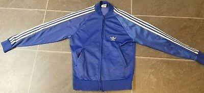 Vtg 70'S 80'S Adidas Atp Keyrolan Blue Track Jacket Sz S Run Dmc Made In Usa