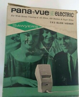 Vintage Sawyers Pana Vue Electric 2x2 Slide Viewer w/ Box and Manual