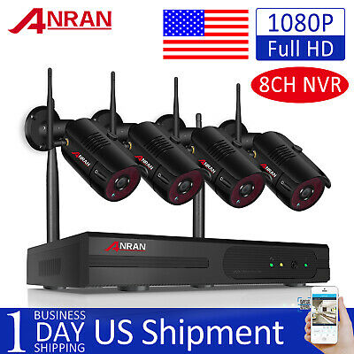 1080P Wireless Home Security Camera System WiFi 1TB HDD 8CH NVR CCTV Outdoor 2MP