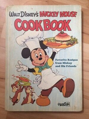 Walt Disney's Mickey Mouse Cookbook 1975 Disney Children Kid Vintage Golden Book