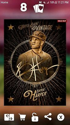 2018 Topps Bunt Bryce Harper Vintage  Digital Signature Card 50CC Nationals