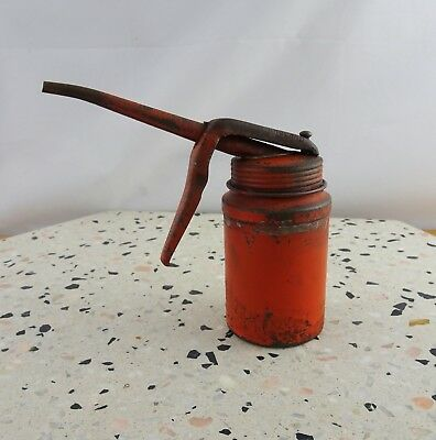 Vintage Metal Wesco Oil Can Old Tin Oiler Made in England