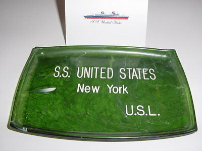 SS UNITED STATES LINES  Bakelite Change Tray  /  Top Condition