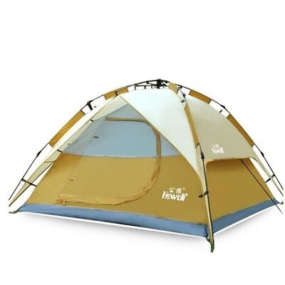 Automatic Family Camping Tent 3 Person 4 Outdoor Travel Double Layer Waterproof
