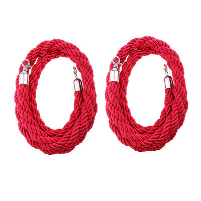 2m 3meters Twisted Rope Crowd Control Post Queue Barrier Crowd Control Red