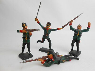 Lineol Prussian soldiers set of 4 soldier scale 1:25